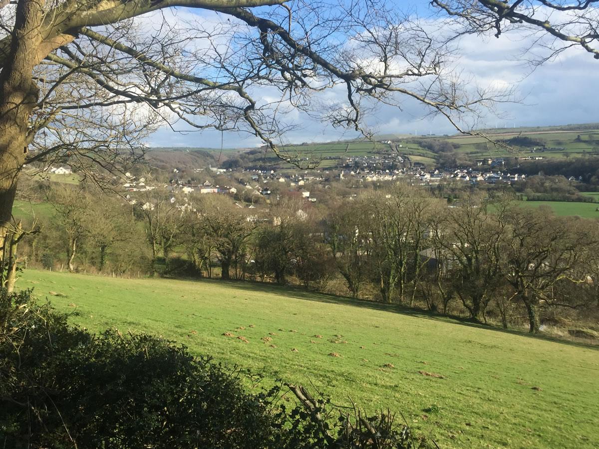 View towards Newcastle Emlyn