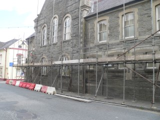 Scaffolding at Cawdor Hall